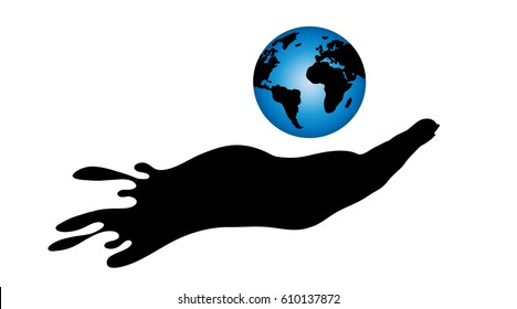 Vector illustration of Globe on a white background.