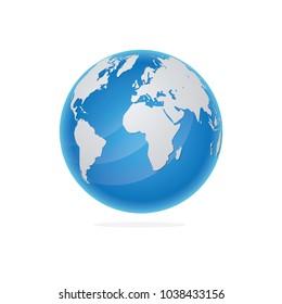 Vector Illustration Globe or World Map