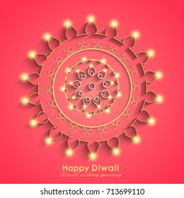 Vector Illustration of glowing Decorative Background for Diwali.