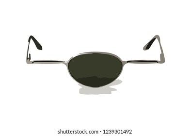 Vector illustration of goggle with one eye- Glasses, One eye human glass