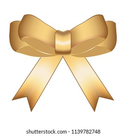 Vector illustration of Gold bow