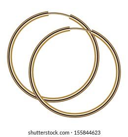 Vector illustration of gold earrings