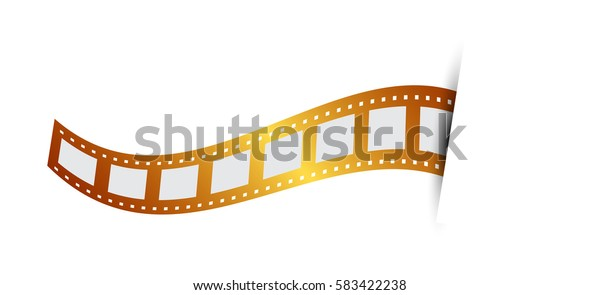 Vector illustration of Gold film