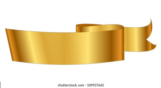 Vector illustration of gold ribbon