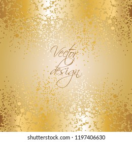 Vector illustration of Gold sequins on a gold background. Abstract background.