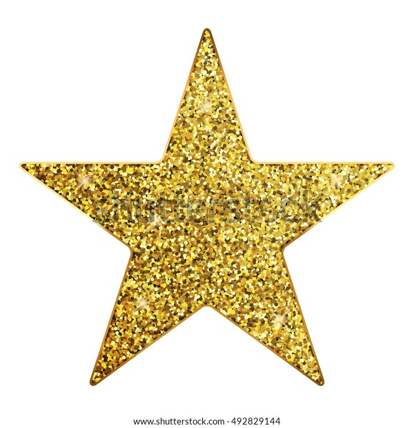 Illustration Vectorielle étoile Dorée Image Vectorielle De Stock Libre De Droits 492829144