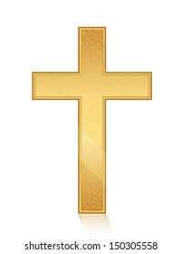 Vector illustration of golden cross
