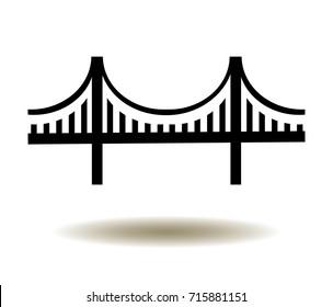 vector illustration of Golden Gate Bridge icon.