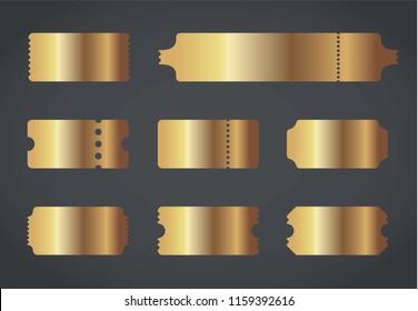 Vector illustration of golden tickets