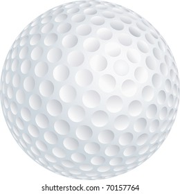 Vector illustration of golf ball