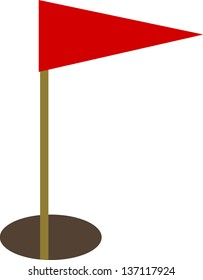 Vector illustration of a golf flag