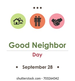 vector illustration for good neighbor day in September