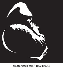 Vector illustration of a gorilla crossing his arms