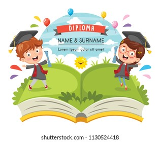Vector Illustration Of Graduation