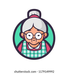 Vector illustration of a Grandma kitchen.