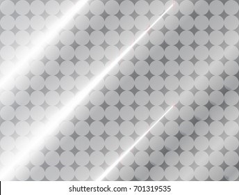 vector Illustration and graphic background,abstract white and gray geometric texture, gray gradient shiny smooth surface 3d metal or plastic,circle tracery with stripe and curly convex of  plastic mat
