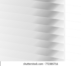 vector Illustration graphic background,abstract white and grey geometry texture,clean soft grey gradient shadow groove shiny convex bright ridge louver surface wall exterior buildings space background