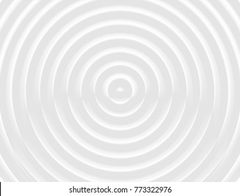 vector Illustration graphic background,abstract white and gray geometric texture,clean soft grey gradient bright curly convex shiny reflection 3d surface simple circle tracery center plastic ripples