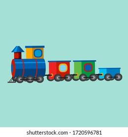 vector illustration graphic cartoon icon of cartoon vintage train toy