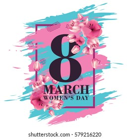 vector illustration. graphic design for the international women's day celebration March 8. Icons for registration of booklets, posters, gift cards, discounts and sales.