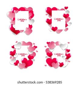 vector illustration. graphic design for Valentine's Day on 14 February. World Day Saint Valentine. background of hearts of love. design cards, invitations, gift cards, flyers and brochures.