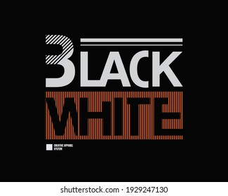Vector illustration of graphic letters, BLACK WHITE, creative clothing, perfect for the design of t-shirts, shirts, hoodies, etc.