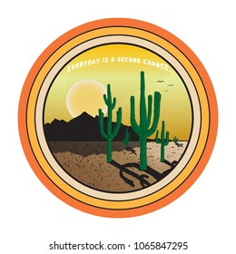 vector illustration graphic texas and western and cactus print for tee and t shirt