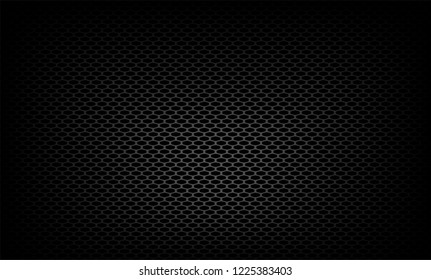 Vector illustration of The gray grille facing the radiator on black background. This part is front of the car body.