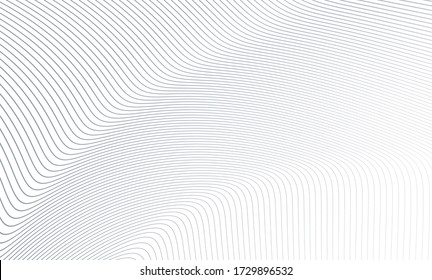 Vector Illustration of the gray pattern of lines abstract background. EPS10. - Shutterstock ID 1729896532