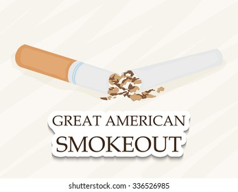 Vector illustration of Great American Smokeout Background.
