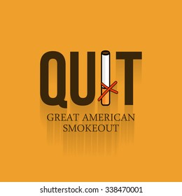 Vector illustration for Great American Smokeout.