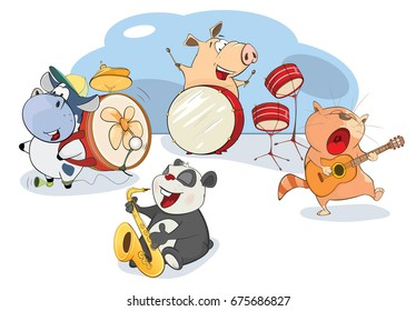 Vector Illustration of The Great Animal Orchestra