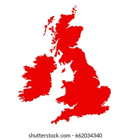 vector illustration of Great Britain map