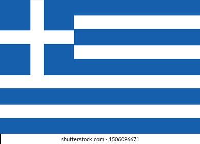 vector illustration of Greece flag