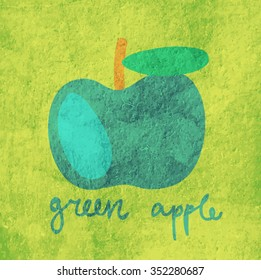 Vector illustration of a green apple