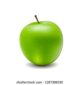 Vector illustration for green apple nuture food organic. Vegetable. Organic