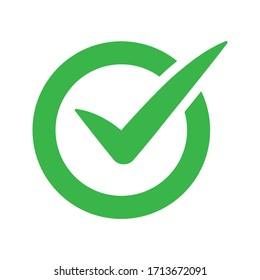 vector illustration of green Check mark icon - Checkmark sign