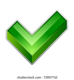 Vector illustration of green check mark icon