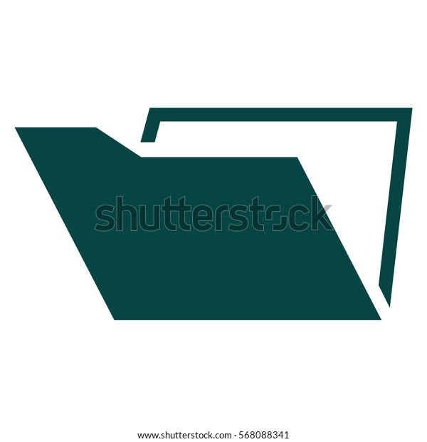 Vector Illustration of Green Folder Icon