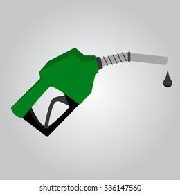 Vector Illustration green of fuel pump icon
