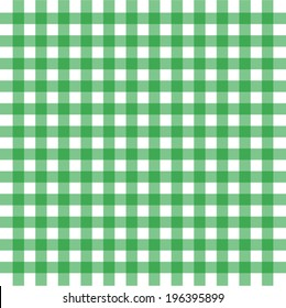 Vector illustration of green gingham background concept