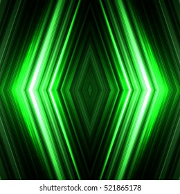 Vector illustration green glowing background for greeting card, postcard, business card or poster