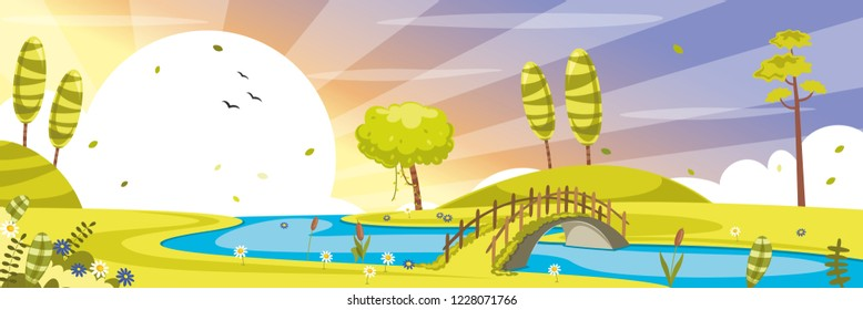 Vector Illustration Of Green Nature