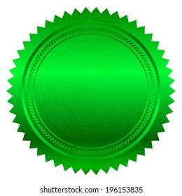 Vector illustration of green seal