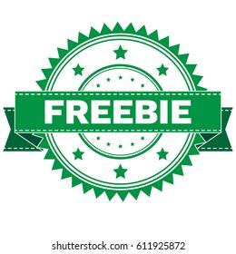 Vector Illustration  of GREEN STAMP SIGN FREEBIE. Stamp. Sign. Sticker. EPS8 .