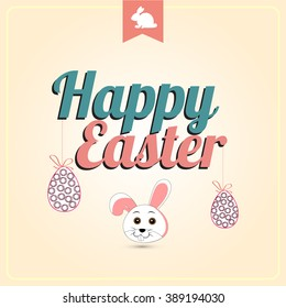 Vector illustration or greeting card for Easter Sunday with beautiful typography and Easter element.