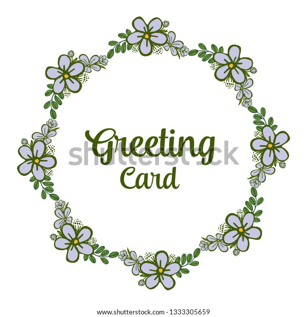 Vector Illustration Greeting Card Writing Purple Stock