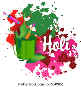 Vector illustration or greeting of colorful background for Indian festival Holi