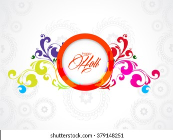 Vector illustration or greeting design of colorful background for Indian festival holi.