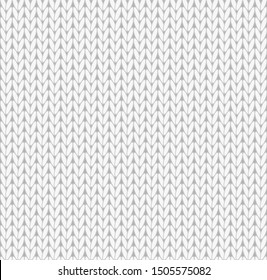 vector illustration of grey knitting seamless background